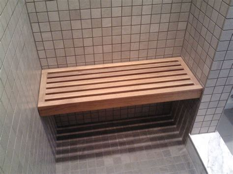 How to build a wood frame shower bench Image
