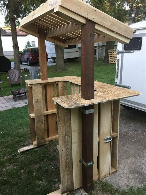 How to build a wood pallet lemonade stand Image