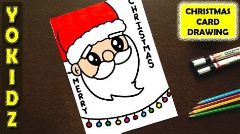How to draw simple christmas cards Image
