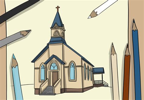 How to draw simple churches Image