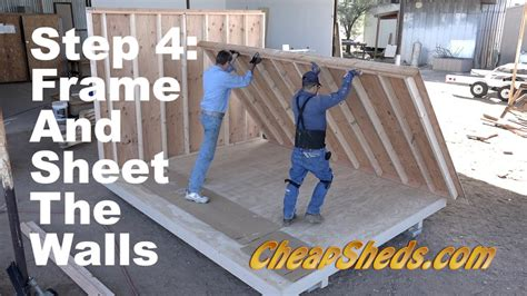 How to frame and sheet the walls for a tall barn and deluxe gable roof shed Image