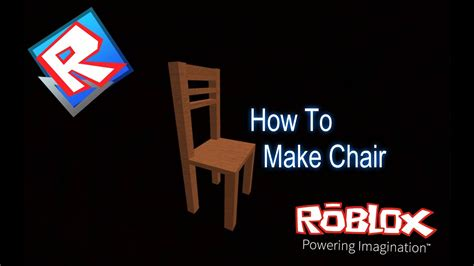 How to make a chair in roblox studio Image