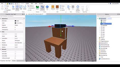 How to make a chair in roblox you can sit in Image