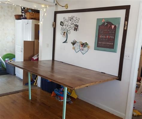 How to make a folding wall table Image