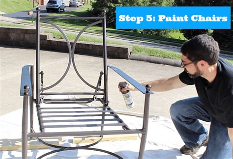 How to paint metal patio chairs by home repair tutor Image
