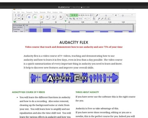 [click]how To Use Audacity Get 750 Sfx   Clickbank Marketplace.