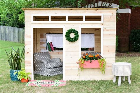 How-To-Build-A-Childrens-Playhouse-Free-Plans