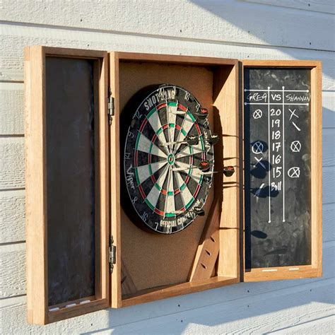 How-To-Build-A-Dart-Board-Cabinet-Plans