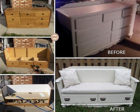 How-To-Make-A-Dresser-Into-A-Bench