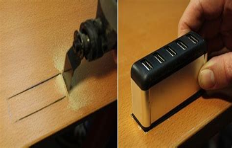 How-To-Recess-A-Usb-Hub-Into-A-Table-Diy