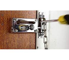 Best How do you make a lock for your door
