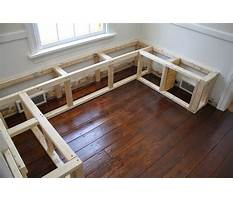 Best How to build a breakfast bench seat