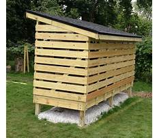 Best How to build a firewood shed by yourself