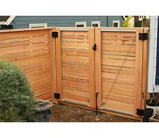 Best How to build a gate with horizontal slats