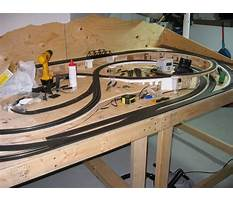 Best How to build a model train table plans