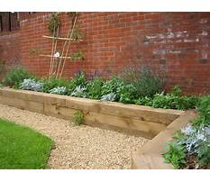 Best How to build a raised bed garden railroad