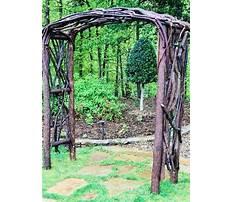 Best How to build a rustic garden arbor