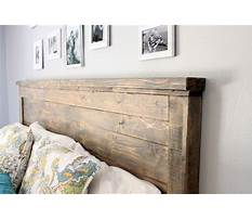 Best How to build a rustic wood headboard