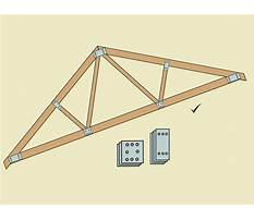 Best How to build a simple wood truss