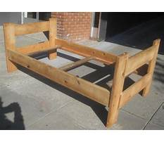 Best How to build a twin log bed