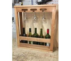 Best How to build a wine cabinet with wine glass rack
