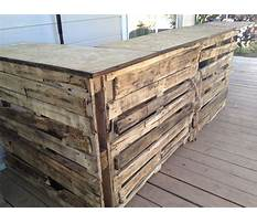 Best How to build a wood pallet bar