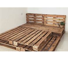 Best How to build a wood pallet bed