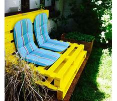 Best How to build a wood pallet love seat