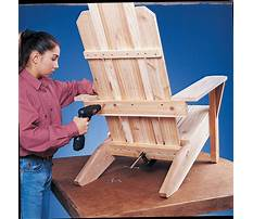 Best How to build an adirondack chair plans