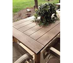 Best How to build an outdoor wood table