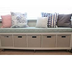 Best How to build bench seating with drawers