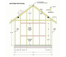 Best How to build gable end walls with your garden storage shed plans video