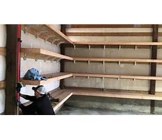 Best How to build garage shelves youtube