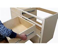 Best How to build kitchen cabinets install drawer slides