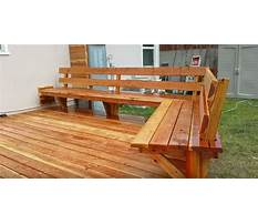 Best How to build space saving deck benches for a small deck