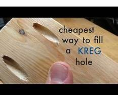 Best How to cheapest way to fill a kreg pocket hole