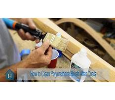 Best How to clean polyurethane brush