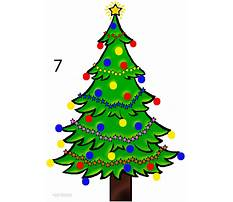 Best How to draw simple christmas tree