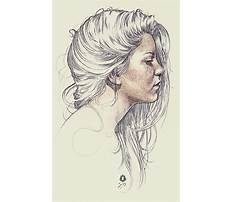 Best How to draw simple hair in a sideways view