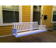 Best How to install hanging porch swing