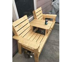 Best How to make a double chair bench diy patio furniture
