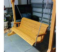 Best How to make a homemade wooden porch swing