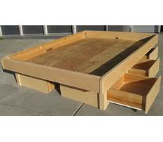 Best How to make a queen size bed frame with storage