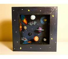 Best How to make a shadow box solar system
