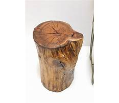 Best How to make a tree stump nightstand