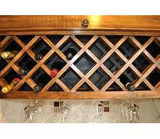 Best How to make a wine rack under a cabinet