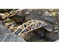 Best How to make a wooden arch bridge