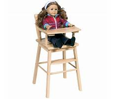 Best How to make a wooden doll high chair