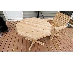 Best How to make a wooden patio table