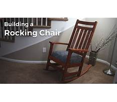 Best How to make rocking chair legs